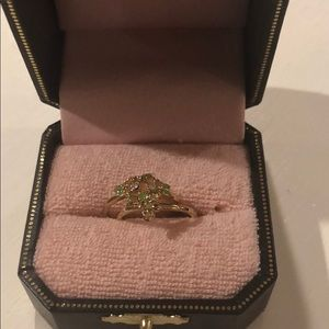 BRAND NEW $118 Juicy Couture Flower Ring Stack